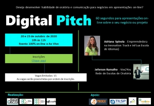 Starteca da UFSCar promove oficina sobre pitch no ambiente digital
